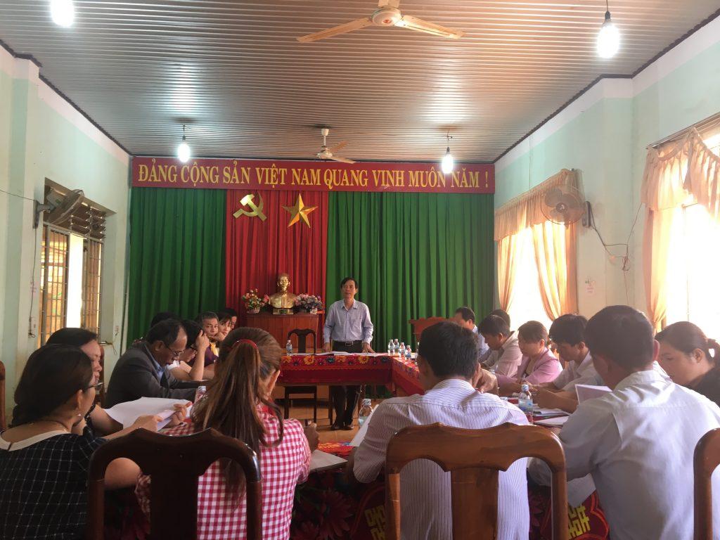 Ban chỉ đạo Chương trình MTQG xây dựng nông thôn mới huyện làm việc với xã Thuận An