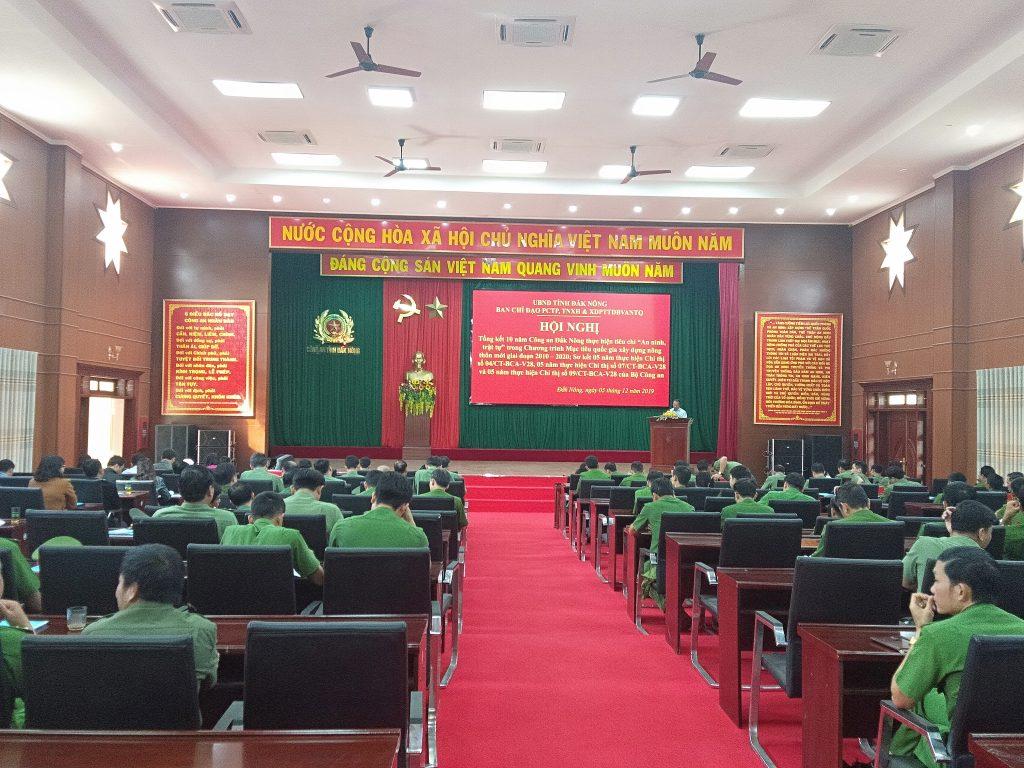"""Công an tỉnh Đắk Nông tổ chức Hội nghị Tổng kết 10 năm thực hiện tiêu chí """"An ninh, trật tự"""" trong xây dựng nông thôn mới"""