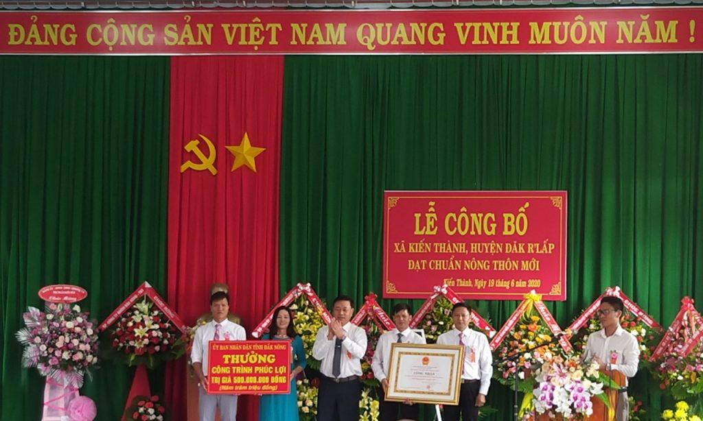Lễ công bố xã Kiến Thành đạt chuẩn nông thôn mới năm 2019