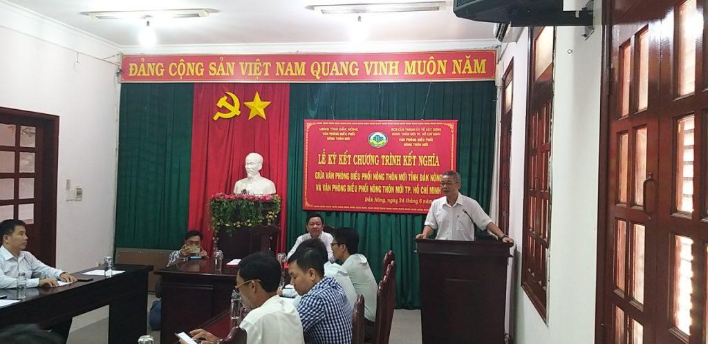 Ký kết Chương trình kết nghĩa giữa Văn phòng Điều phối NTM  tỉnh Đắk Nông và Văn phòng Điều phối NTM TP. Hồ Chí Minh